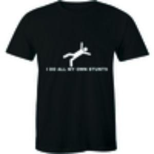 I Do All My Own Stunt - Falling Birthday T-shirt
